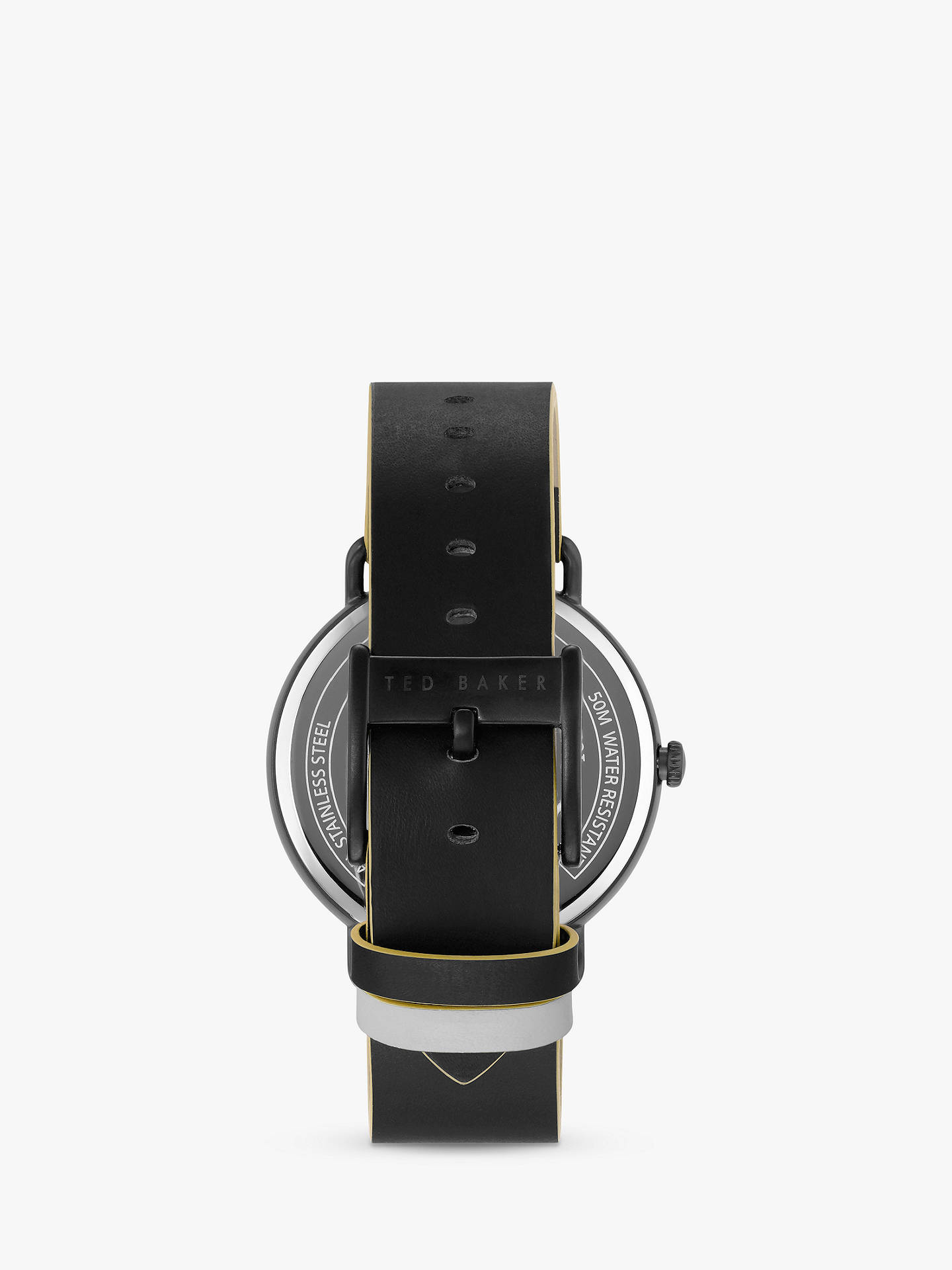 BuyTed Baker TE50520003 Men's George Leather Strap Watch, Black Online at johnlewis.com