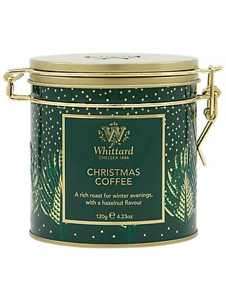 whittard hazelnut coffee clip top tin 120g