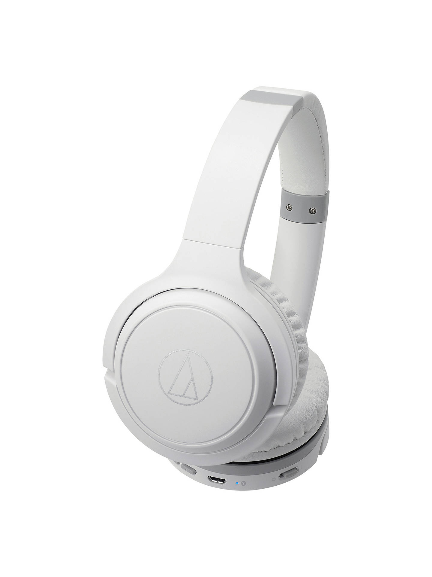 Buy Audio-Technica ATH-S200BT Wireless Bluetooth On-Ear Headphones, White Online at johnlewis.com