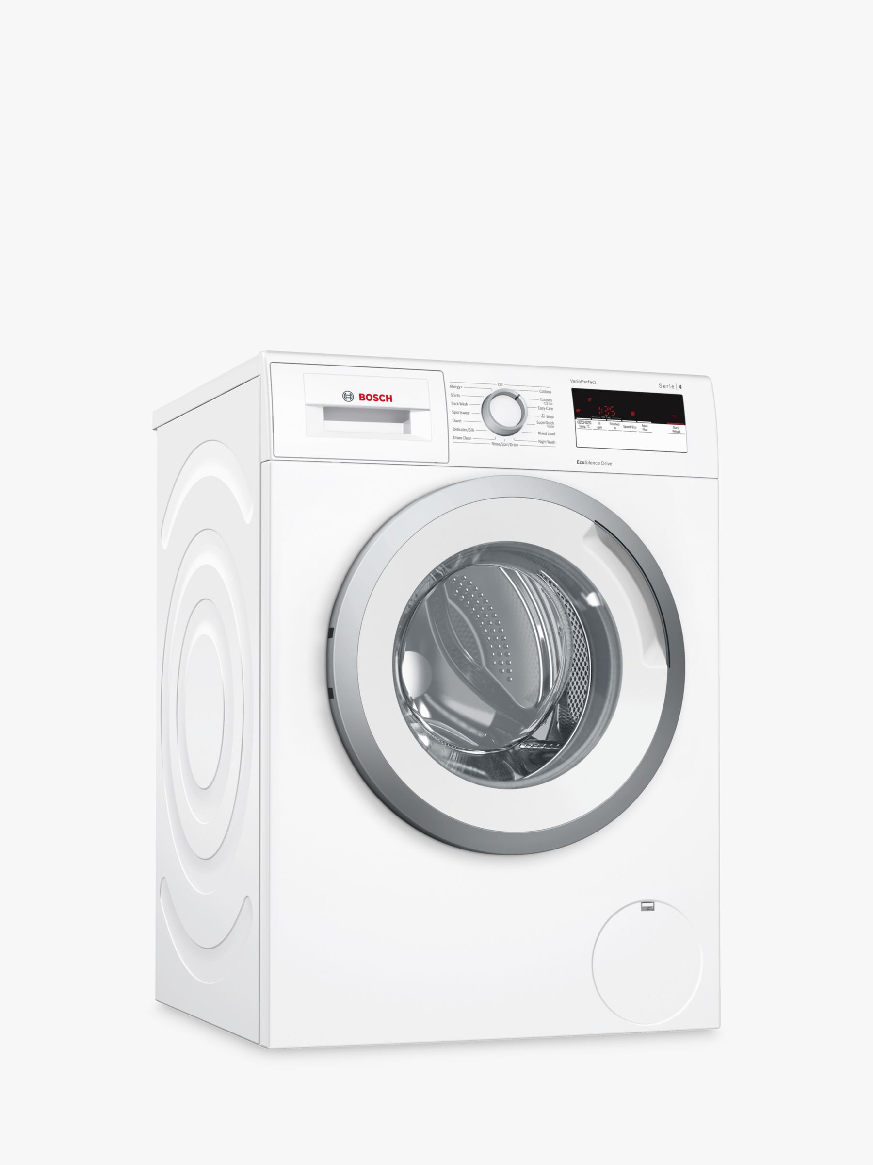 Bosch Bosch WAN24108GB Freestanding Washing Machine, 8kg Load, A+++ Energy Rating, 1200RPM Spin, White