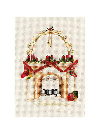 Buy Bothy Threads Christmas Fireplace Counted Cross Stitch Kit Online at johnlewis.com