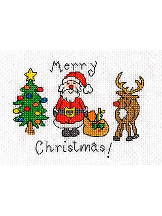 deb81a5b49 Bothy Threads Merry Christmas Card Counted Cross Stitch Kit