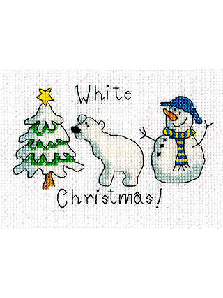 Buy Bothy Threads White Christmas Card Counted Cross Stitch Kit Online at johnlewis.com