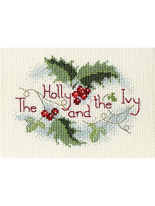 Bothy Threads Holly And Ivy Card Counted Cross Stitch Kit