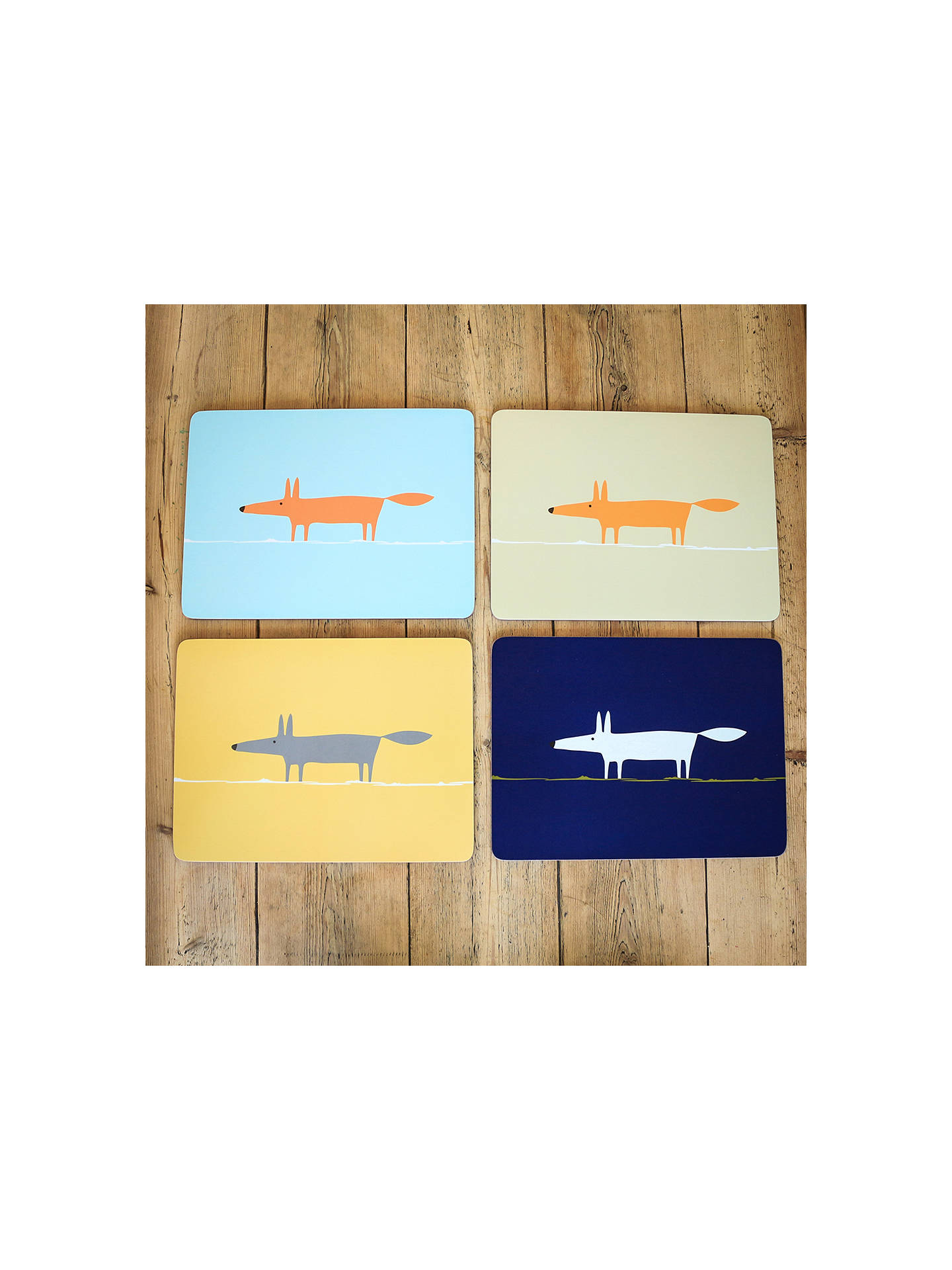Buy Scion Cork-Backed Mr Fox Placemats, Assorted, Set of 4 Online at johnlewis.com