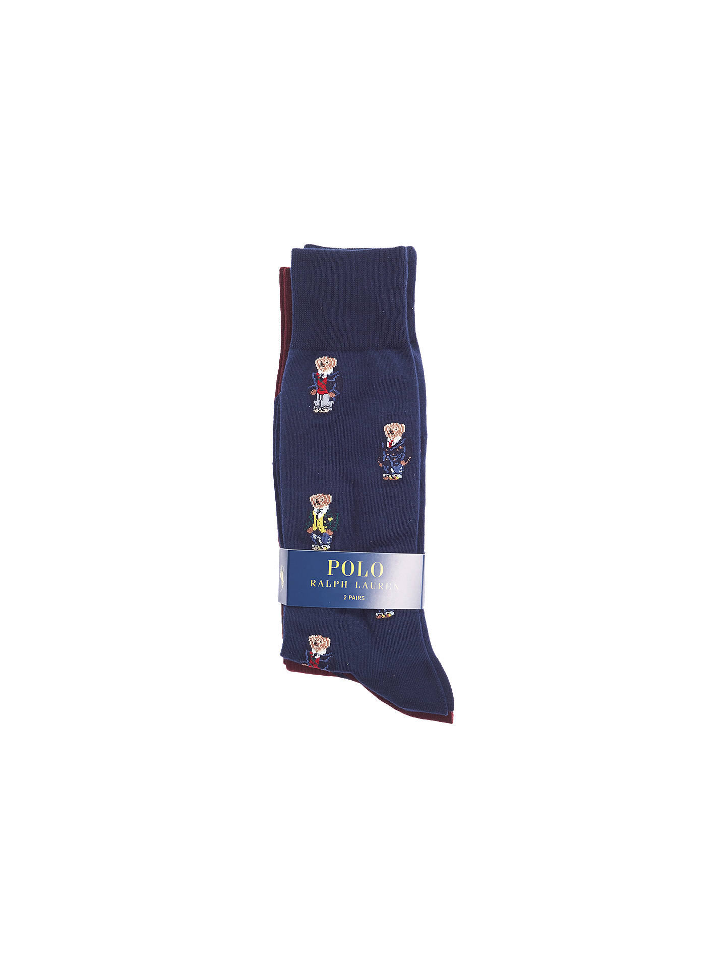 Buy Polo Ralph Lauren Bear Pattern Socks, Pack of 2, One Size Online at johnlewis.com