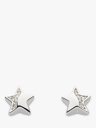 Kit Heath Sterling Silver Cubic Zirconia Star Stud Earrings, Silver
