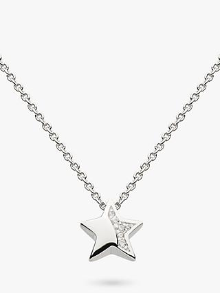 Kit Heath Sterling Silver Pave Star Pendant Necklace, Silver