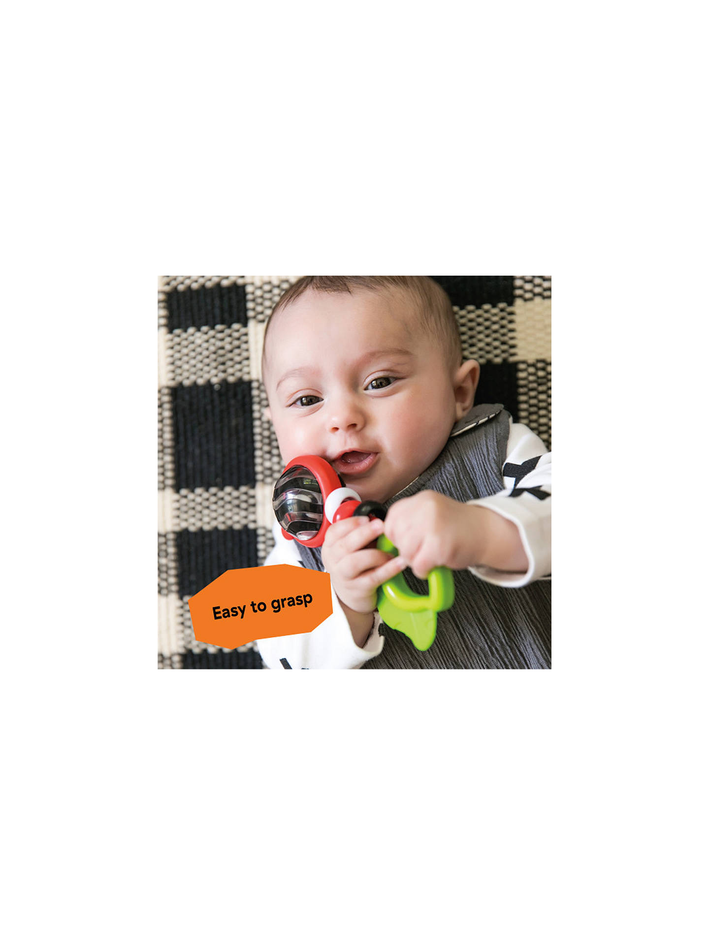 Buy Baby Einstein Bright Bold Rattle and Teether Toy Online at johnlewis.com