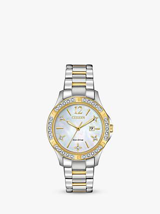 Citizen Women's Electra Diamond Date Bracelet Strap Watch