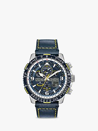 a6bab819996 Citizen JY8078-01L Men s Promaster Skyhawk AT Chronograph Eco-Drive Leather Strap  Watch