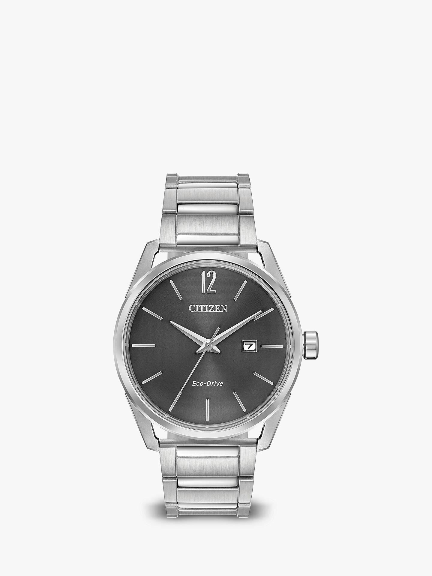 c4244d7e8562f Citizen BM7410-51H Men s CTO Eco-Drive Date Bracelet Strap Watch ...