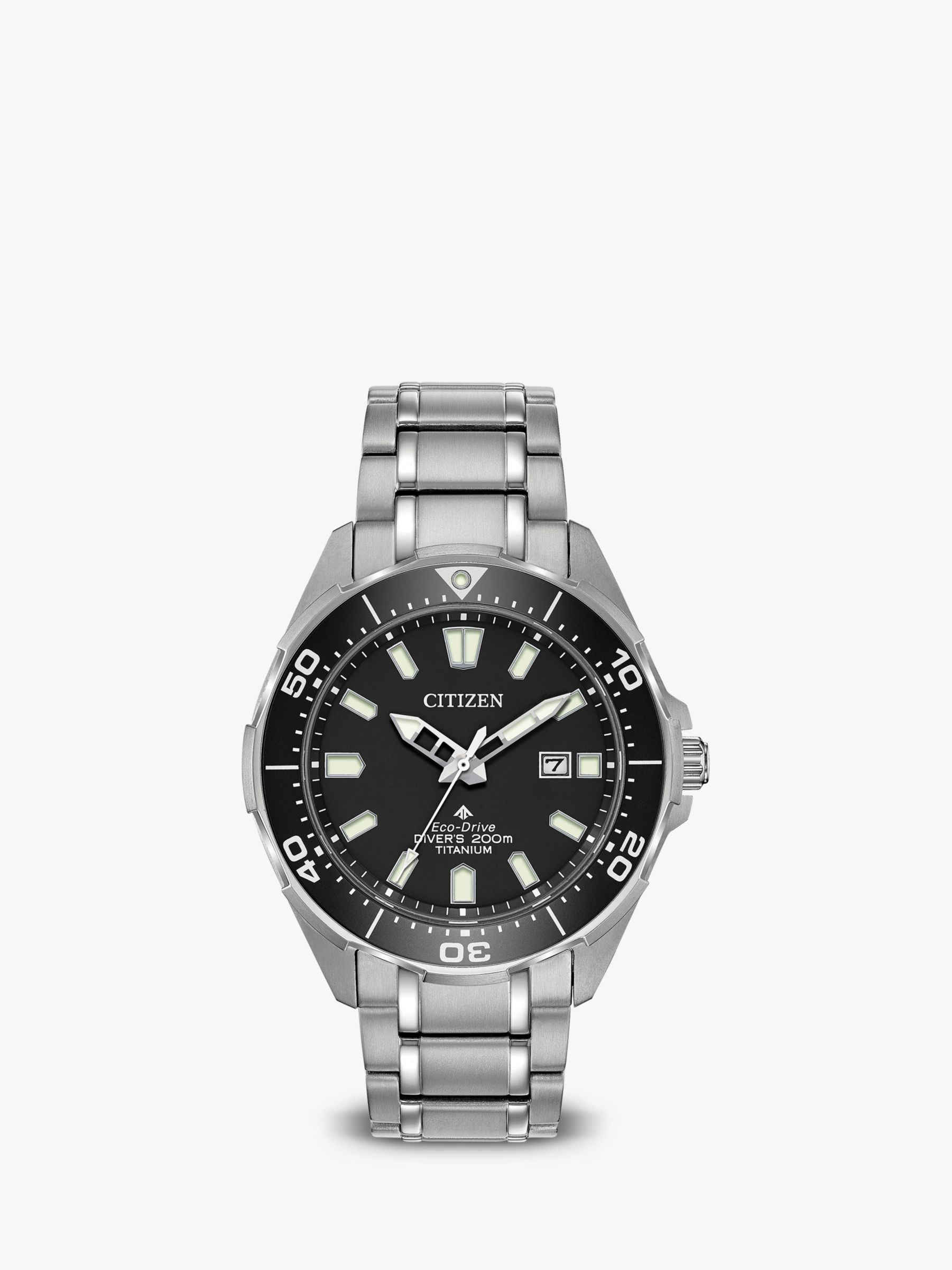 Citizen Citizen BN0200-56E Men's ProMaster Eco-Drive Date Bracelet Strap Watch, Silver/Black