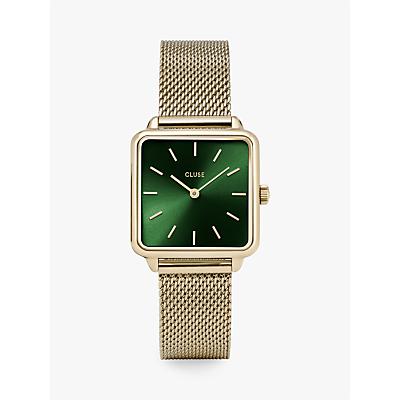 CLUSE Women's La Garconne Square Mesh Bracelet Strap Watch
