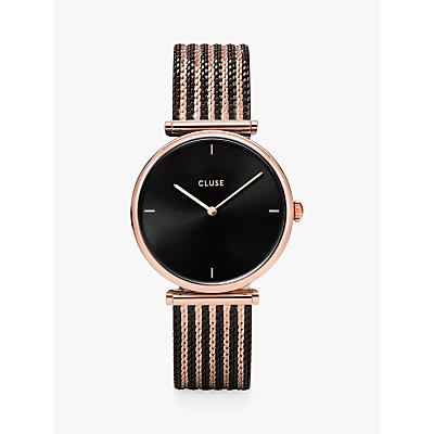 CLUSE Women's Triomphe Mesh T-Bar Bracelet Strap Watch