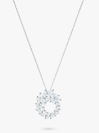 Buy Swarovski Louison Crystal Pendant Necklace, Silver/Clear Online at johnlewis.com