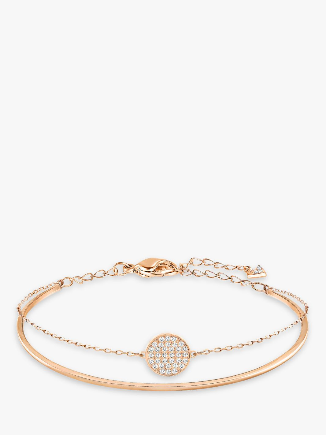 Swarovski Swarovski Romance Crystal Round Charm Bangle, Rose Gold