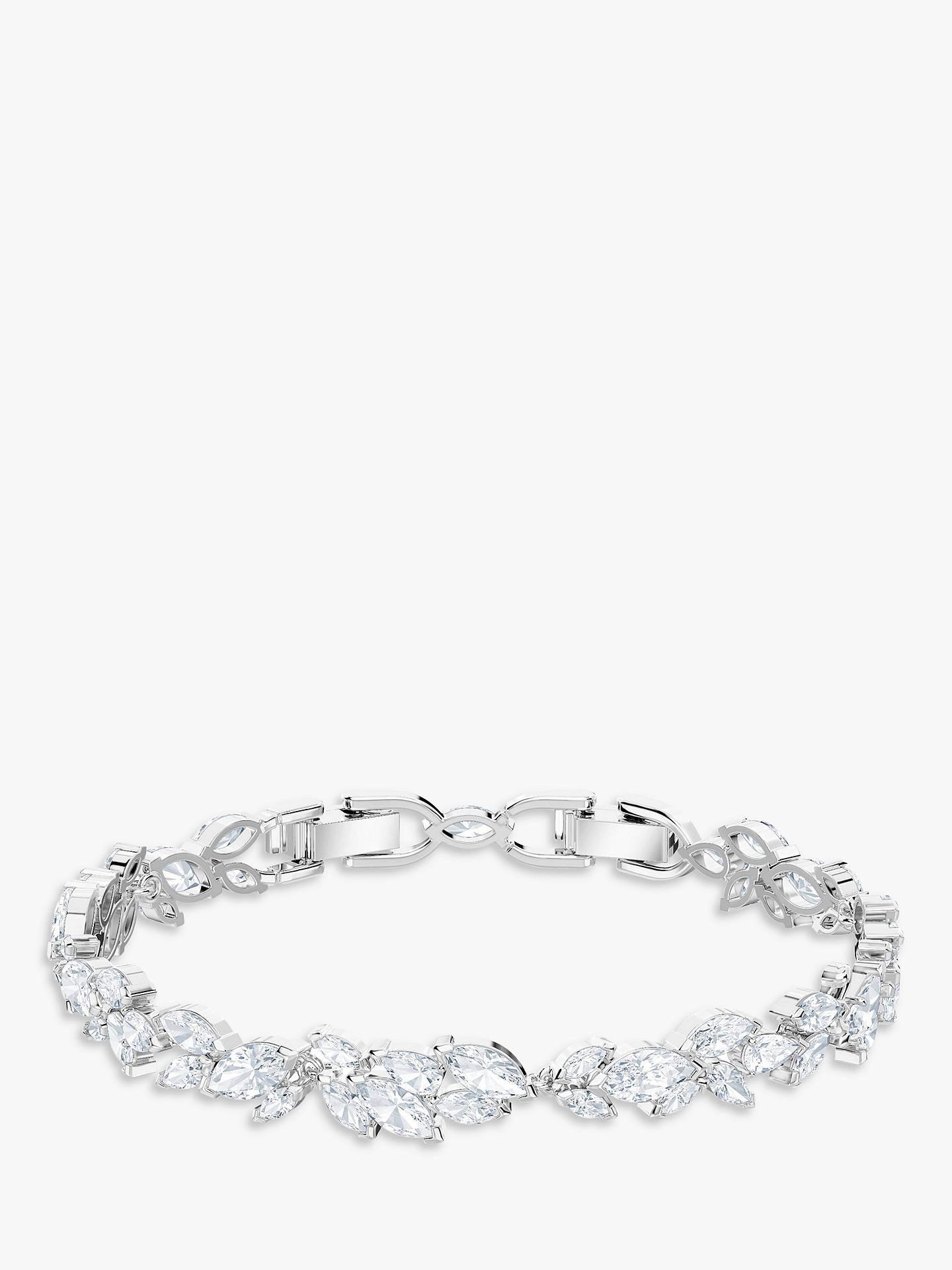 d3a37f9410f Buy Swarovski Louison Crystal Bracelet, Silver/Clear Online at johnlewis.com