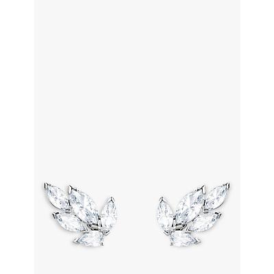 Image of            Swarovski Louison Crystal Stud Earrings, Silver/Clear