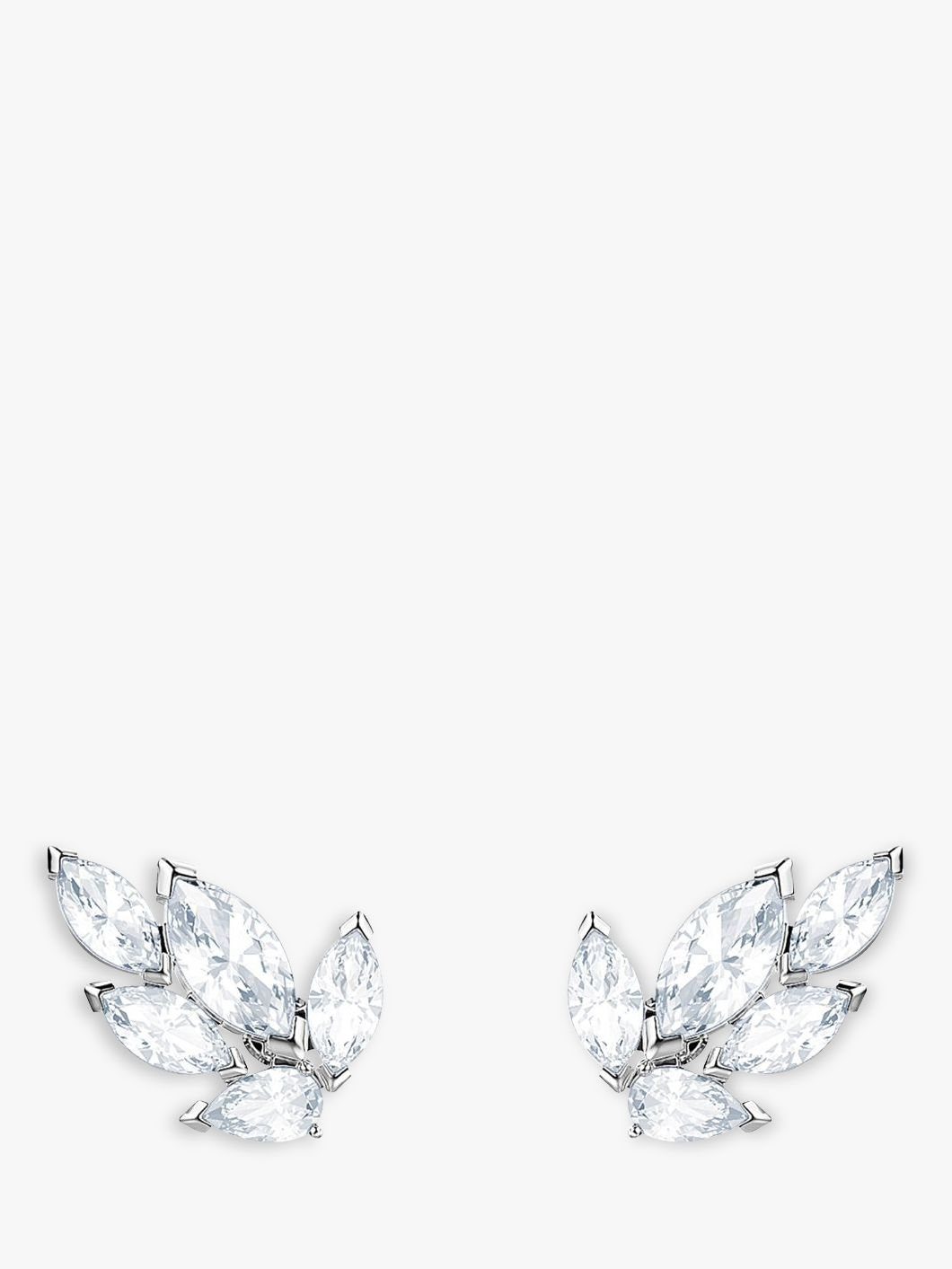 Swarovski Swarovski Louison Crystal Stud Earrings, Silver/Clear