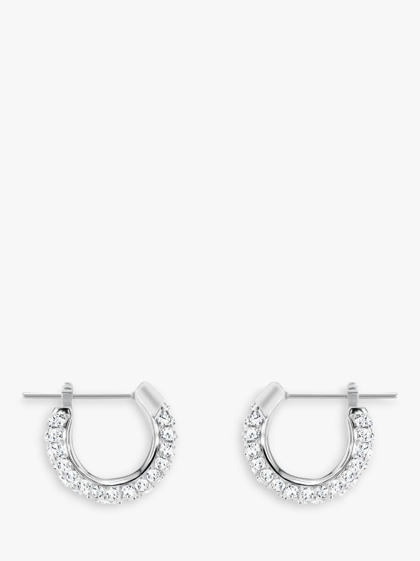 Swarovski Swarovski Romance Crystal Hoop Earrings, Silver/Clear