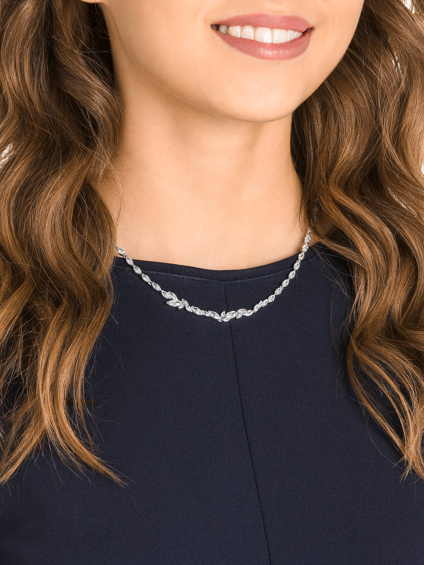 Buy Swarovski Louison Crystal Collar Necklace, Silver/Clear Online at johnlewis.com