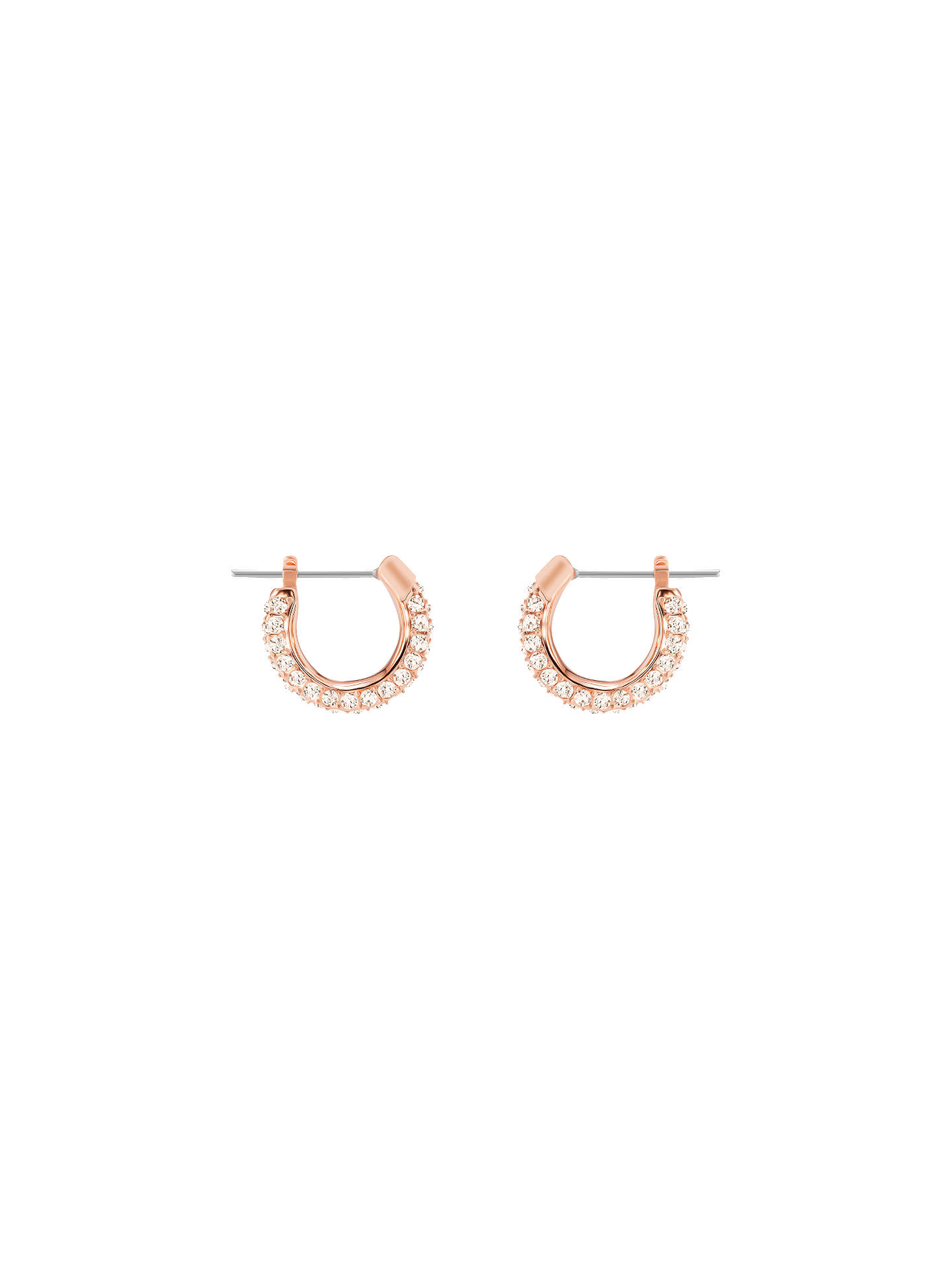 size 40 5aec3 eb53a BuySwarovski Romance Crystal Hoop Earrings, Rose Gold Online at  johnlewis.com