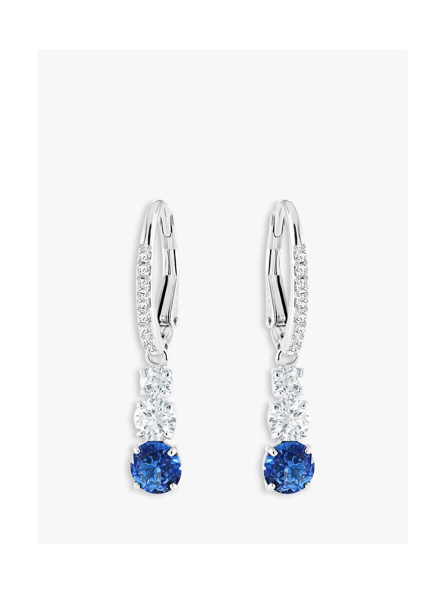 ab8eeb346625 Swarovski Attract Crystal Drop Hook Earrings at John Lewis   Partners