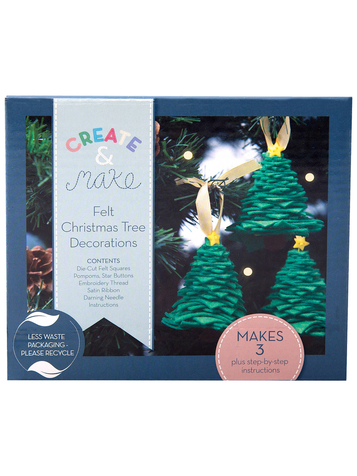 Buy Create and Make Make Your Own Christmas Tree Decoration Craft Kit Online at johnlewis.