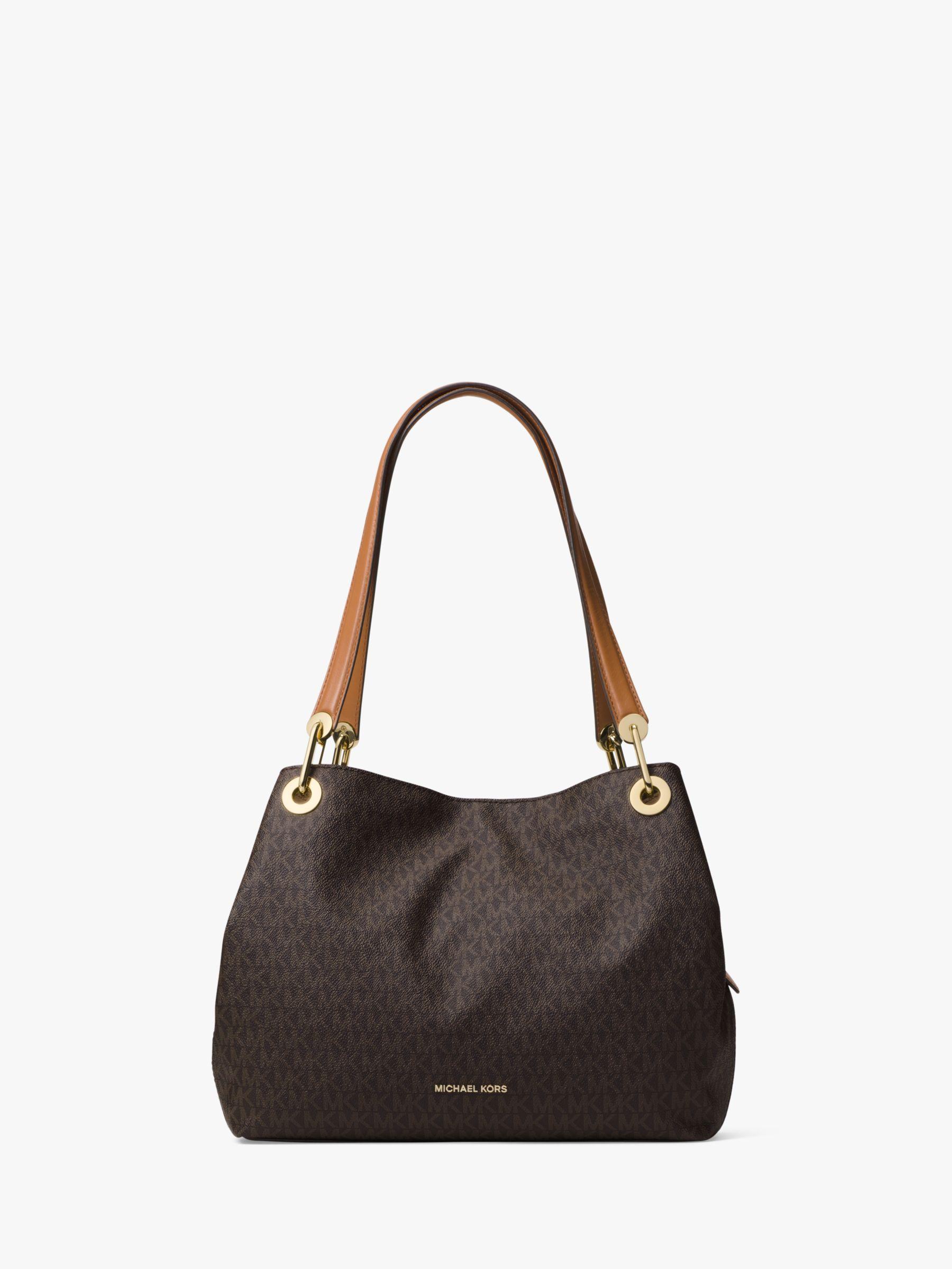 f0807a5b3166 MICHAEL Michael Kors Raven Logo Large Shoulder Bag, Brown