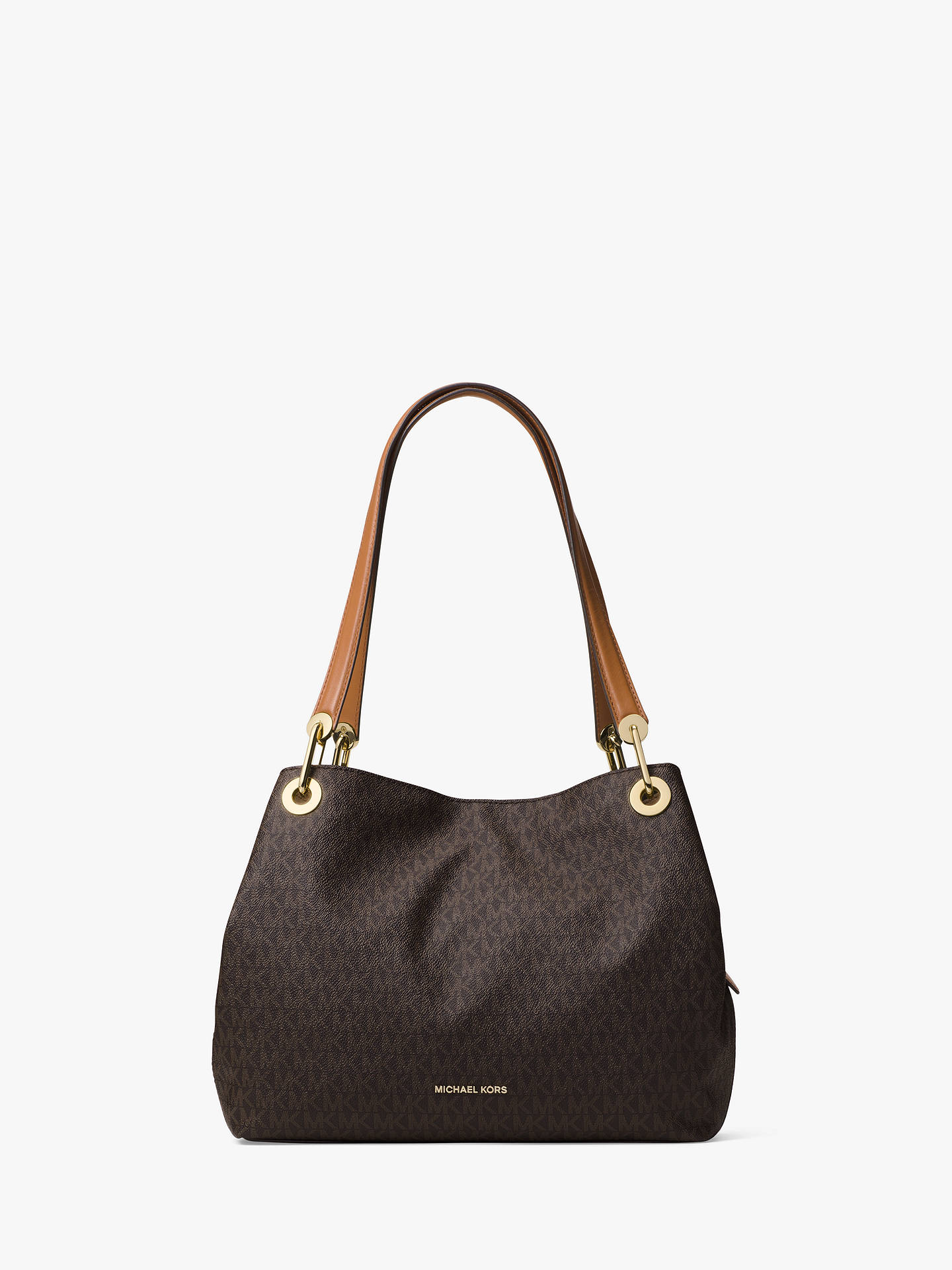 8d9f5d60d62d5a Buy MICHAEL Michael Kors Raven Logo Large Shoulder Bag, Brown Online at  johnlewis.com ...