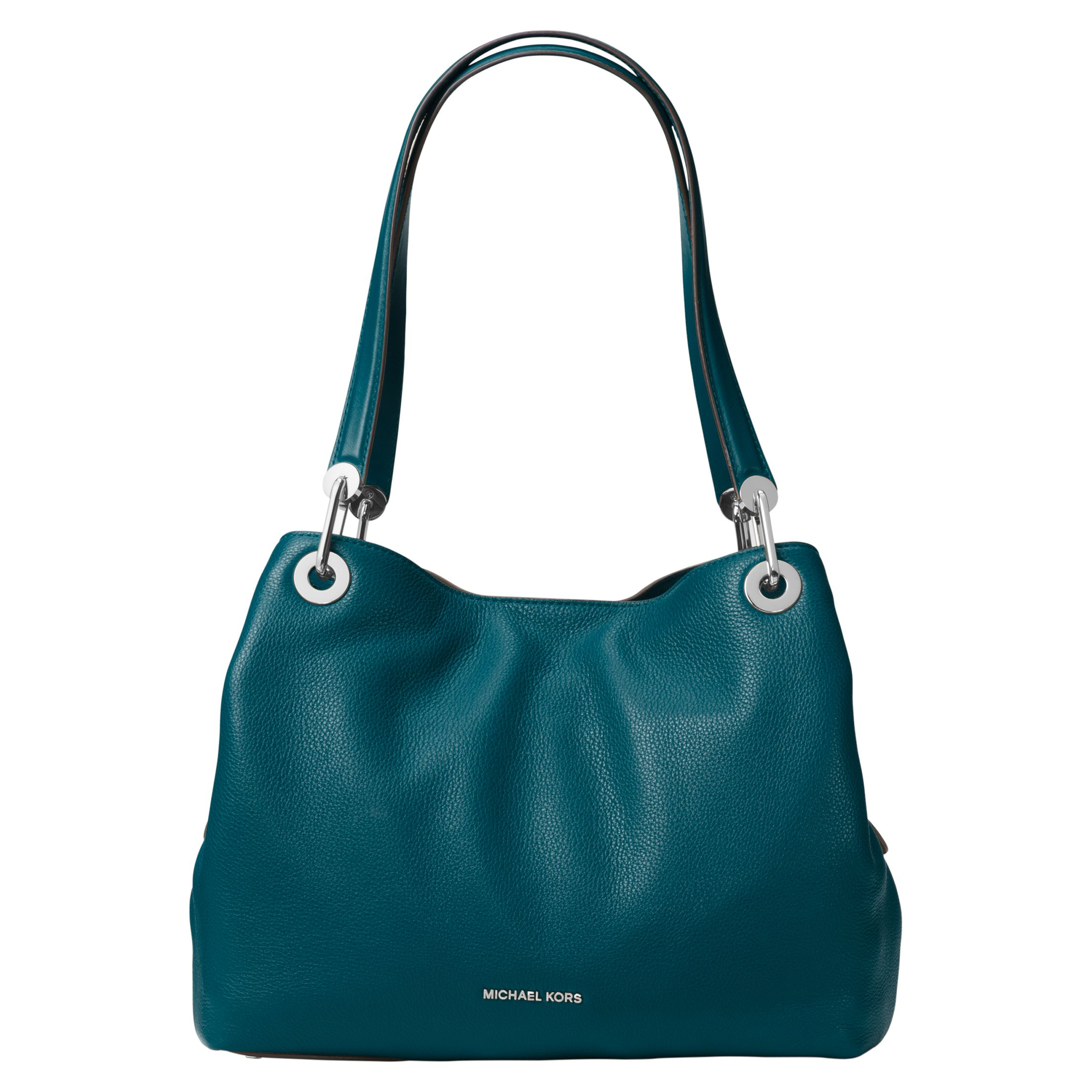 f0f8a8dcf20b0 MICHAEL Michael Kors Raven Large Leather Shoulder Bag at John Lewis    Partners