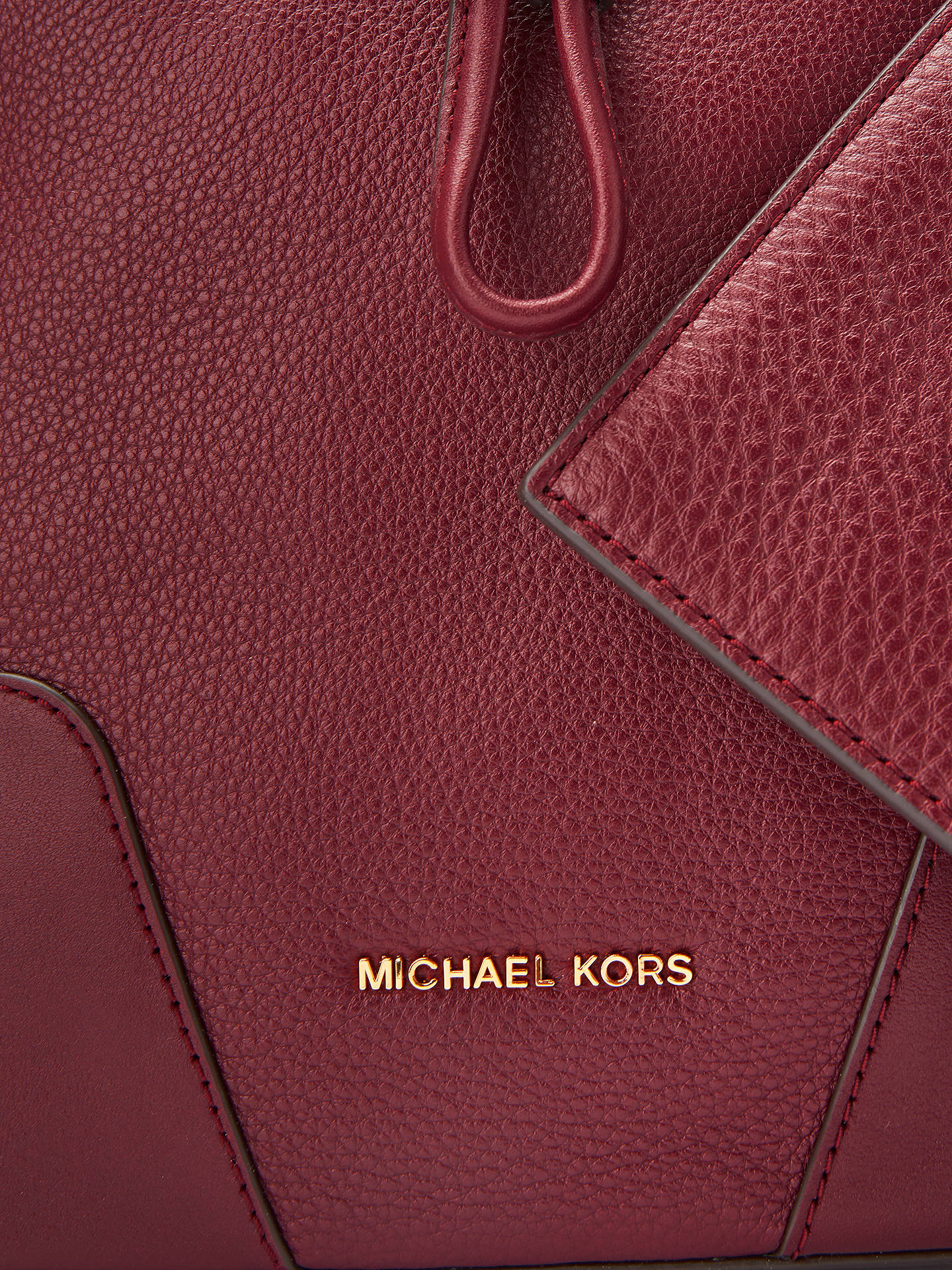f2e25fbf7560 ... Buy MICHAEL Michael Kors Cary Small Leather Bucket Bag, Oxblood Online  at johnlewis.com