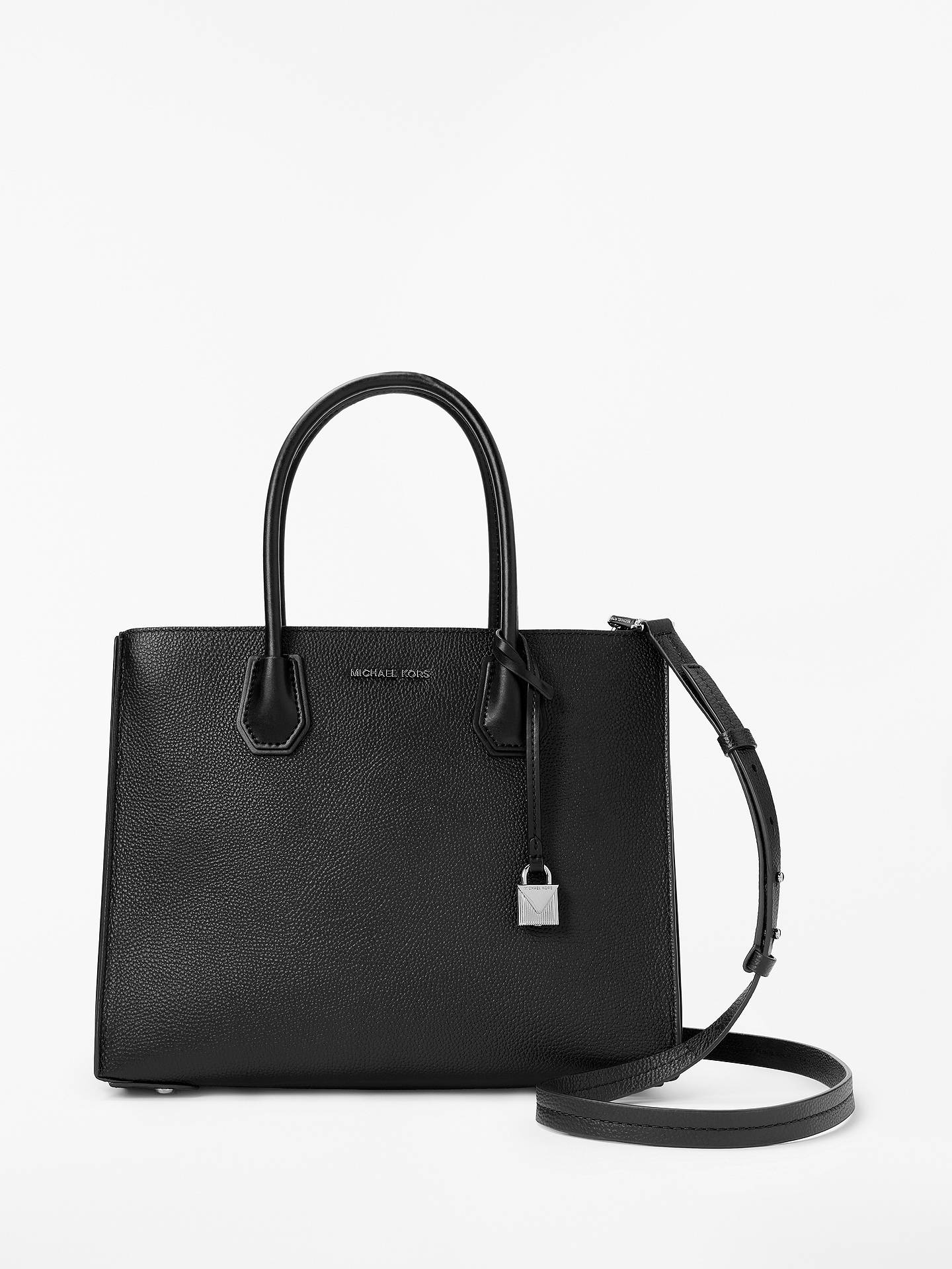 820c0bc1d39d3c Buy MICHAEL Michael Kors Mercer Accordion Large Leather Tote Bag, Black  Online at johnlewis.