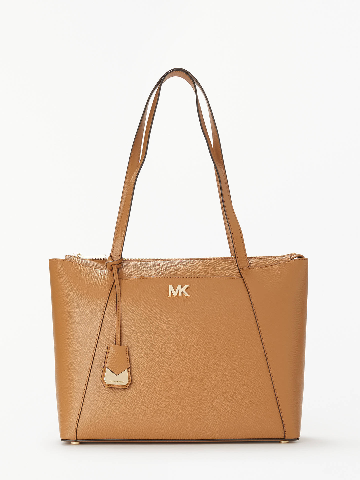 Michael Kors Mad East West Medium Leather Tote Bag Acorn Online At Johnlewis
