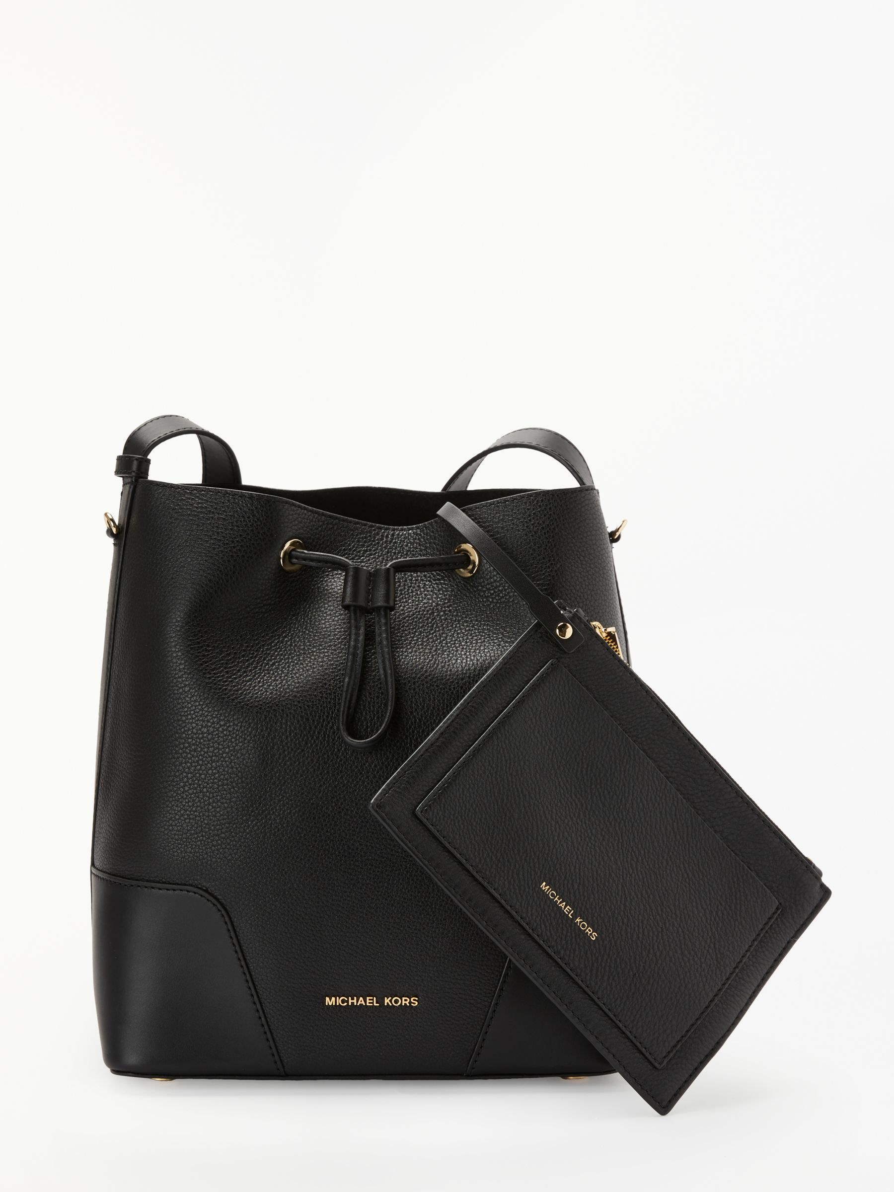 e877e683f2b4 ... promo code for michael michael kors cary medium leather bucket bag at john  lewis partners 29a61