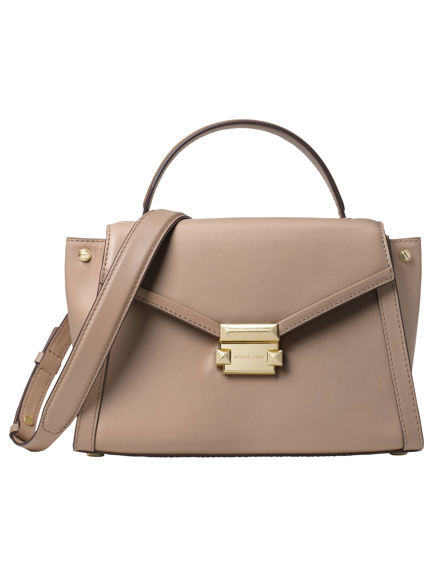 fde7ebbea950c0 Buy MICHAEL Michael Kors Whitney Medium Leather Satchel Bag, Truffle Online  at johnlewis.com ...
