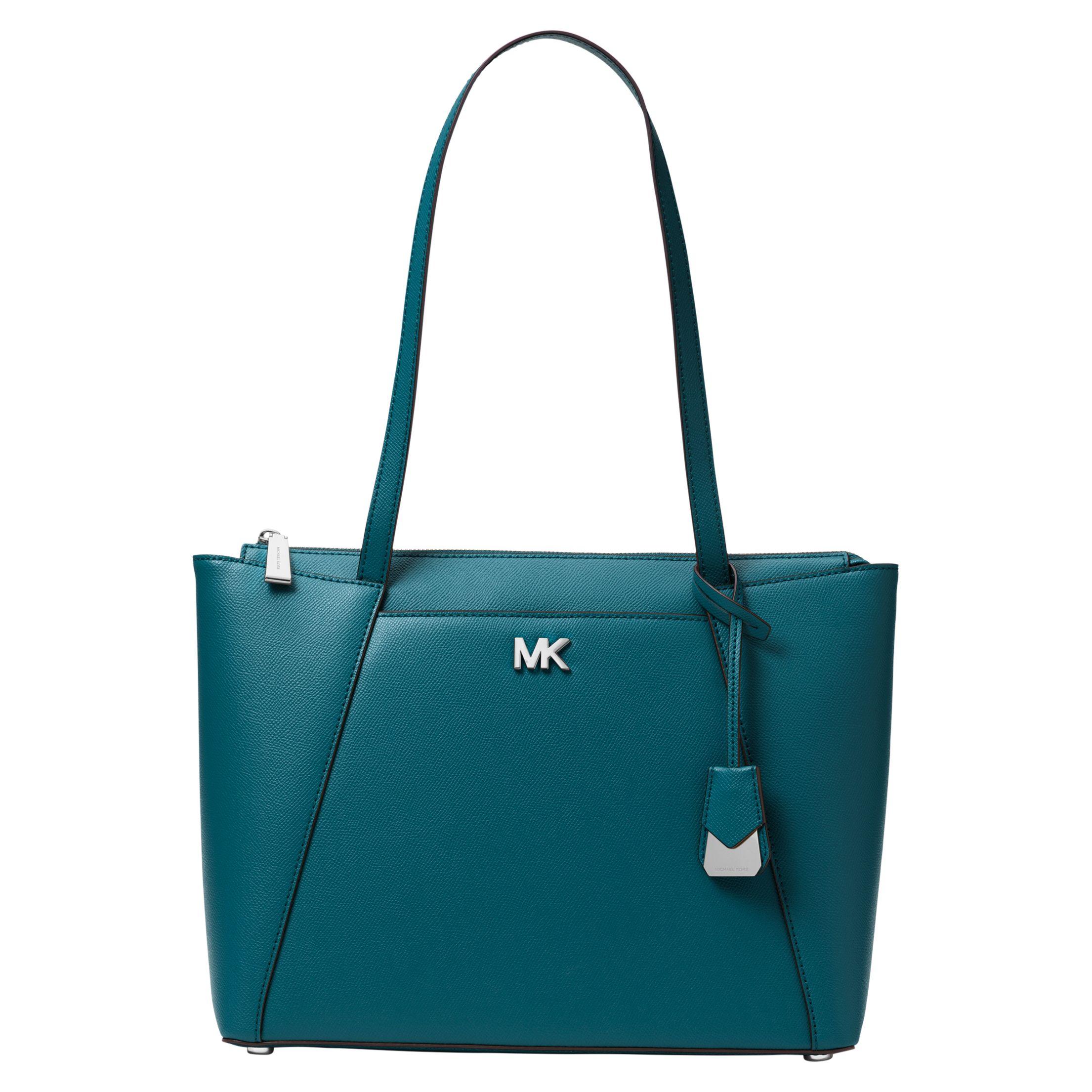 65bda5701580 MICHAEL Michael Kors Maddie East West Medium Leather Tote Bag at John Lewis  & Partners