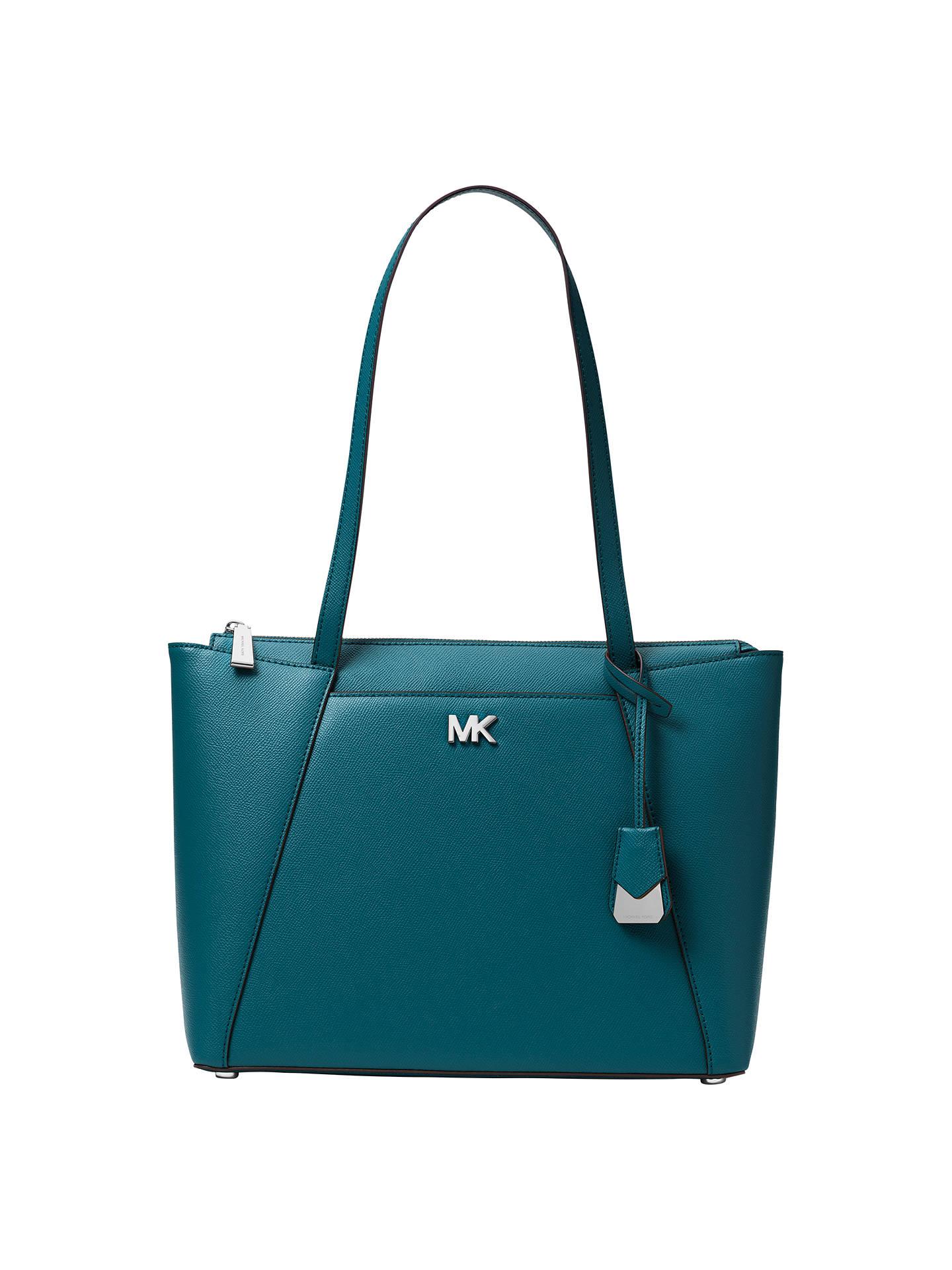 f6eee0573128 Buy MICHAEL Michael Kors Maddie East West Medium Leather Tote Bag, Luxe  Teal Online at ...