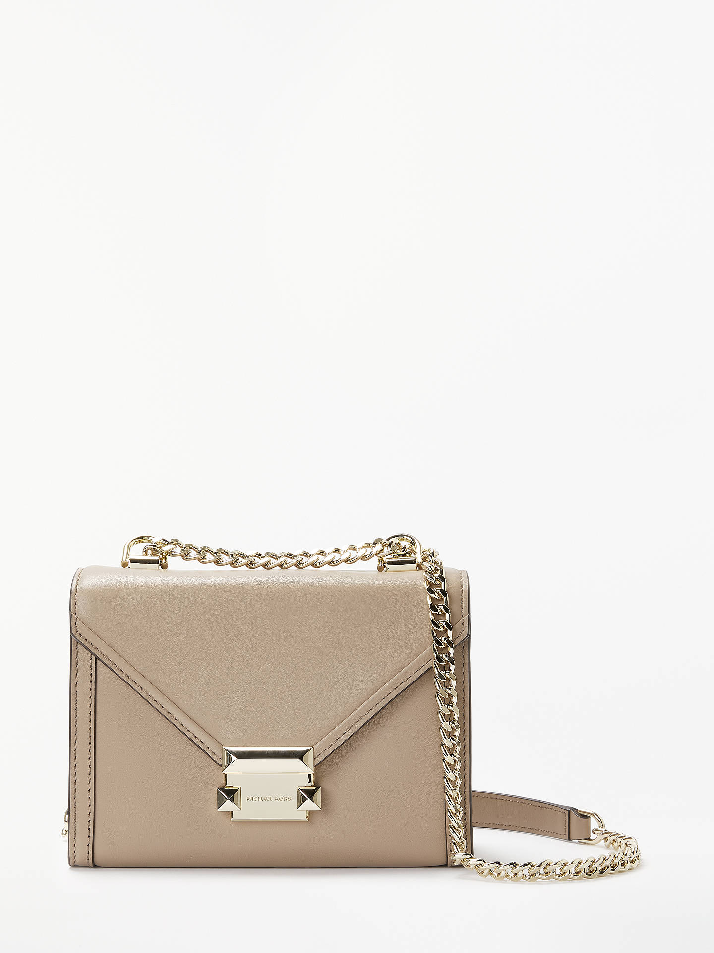 9e916ee3aa029c Buy MICHAEL Michael Kors Whitney Small Leather Shoulder Bag, Truffle Online  at johnlewis.com ...