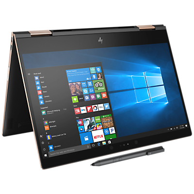 "Image of HP Spectre x360 13-ae004na Convertible Laptop, Intel Core i5, 8GB RAM, 256GB M.2 SSD, 13.3"", 4K Ultra HD, Dark Ash Silver"