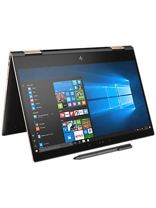 "HP Spectre x360 13-ae004na Convertible Laptop, Intel Core i5, 8GB RAM, 256GB M.2 SSD, 13.3"", 4K Ultra HD, Dark Ash Silver"