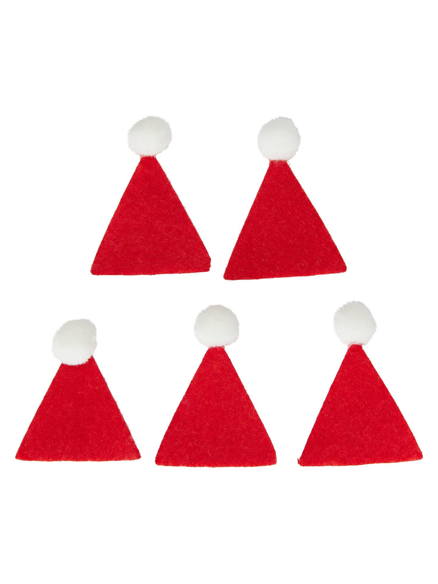 Habico Mini Santa Hats Pack Of 5 At John Lewis Partners