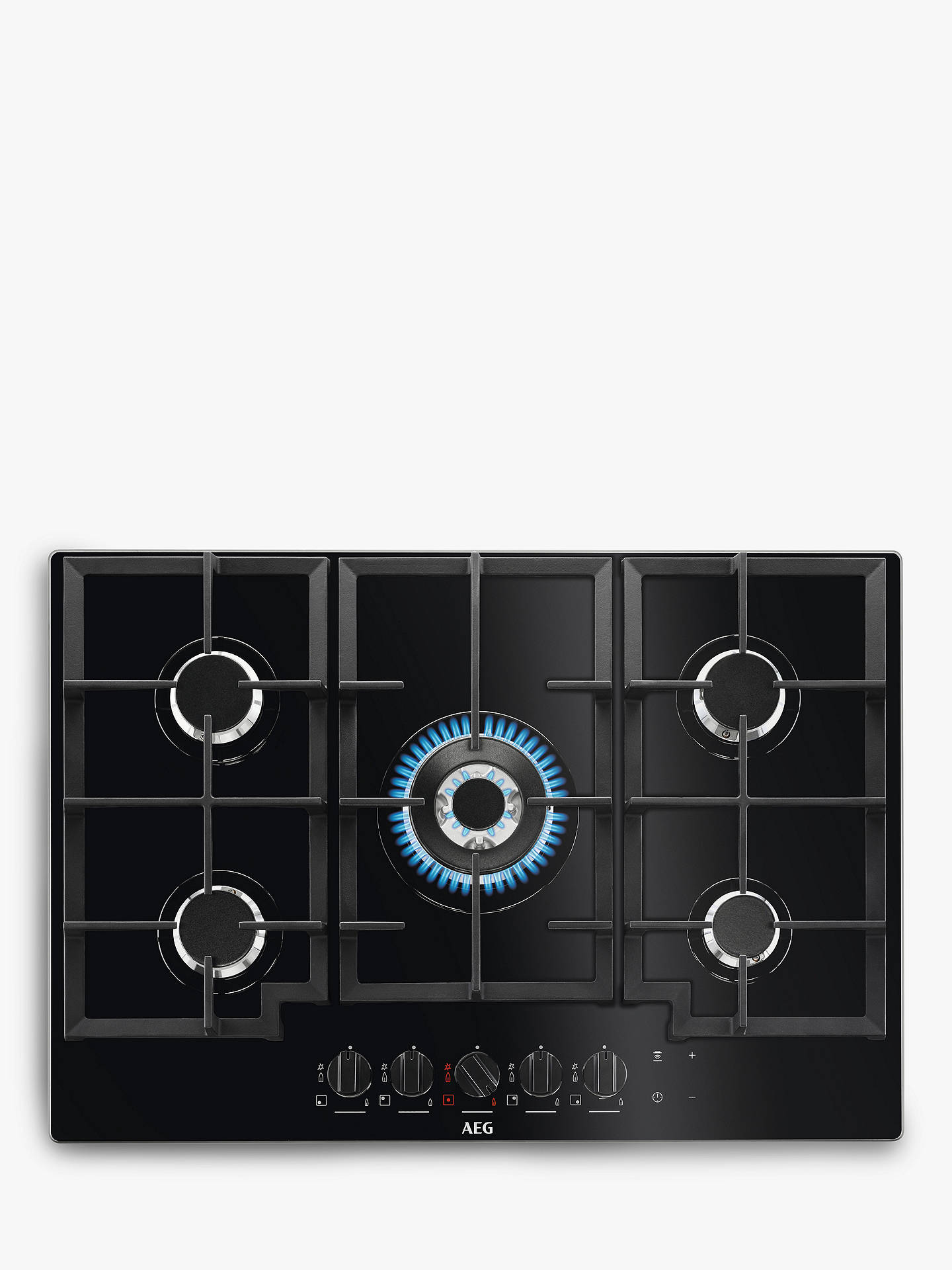 BuyAEG HKB75NB540 Gas Hob, Black Online at johnlewis.com
