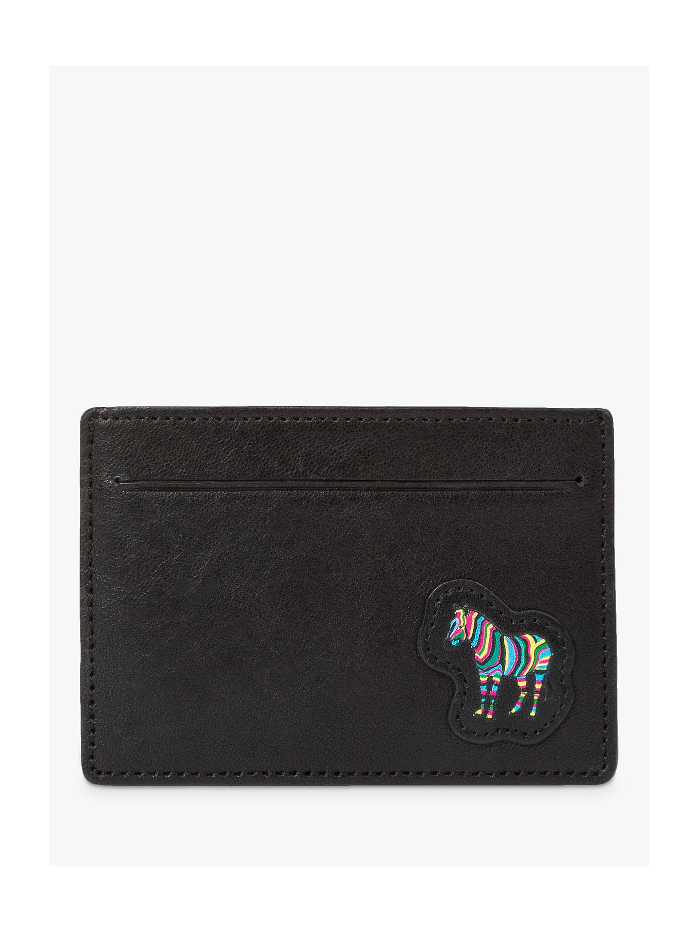 d179fe4608a Buy Paul Smith Zebra Print Leather Card Holder, Black Online at  johnlewis.com ...