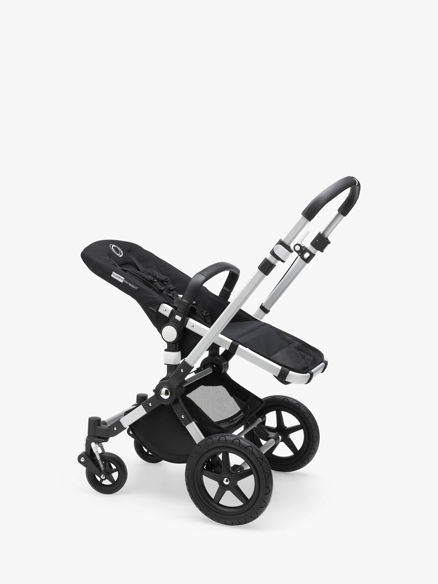 4deac9f2ffa6 Buy Bugaboo Cameleon3 Plus Pushchair Base Unit and Carrycot Base Aluminium  Black Online at johnlewis