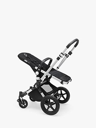 Bugaboo Cameleon3 Plus Pushchair Base Unit and Carrycot Base Aluminium/Black