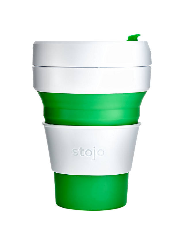 Buy Stojo Collapsible Reusable Pocket Cup, 355ml, Green Online at johnlewis.com