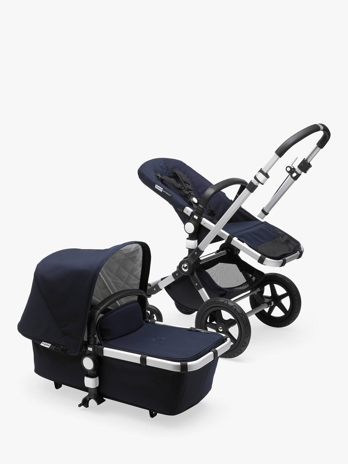 Buy Bugaboo Cameleon3 Plus Classic Complete Pushchair, Dark Navy Online at johnlewis.com