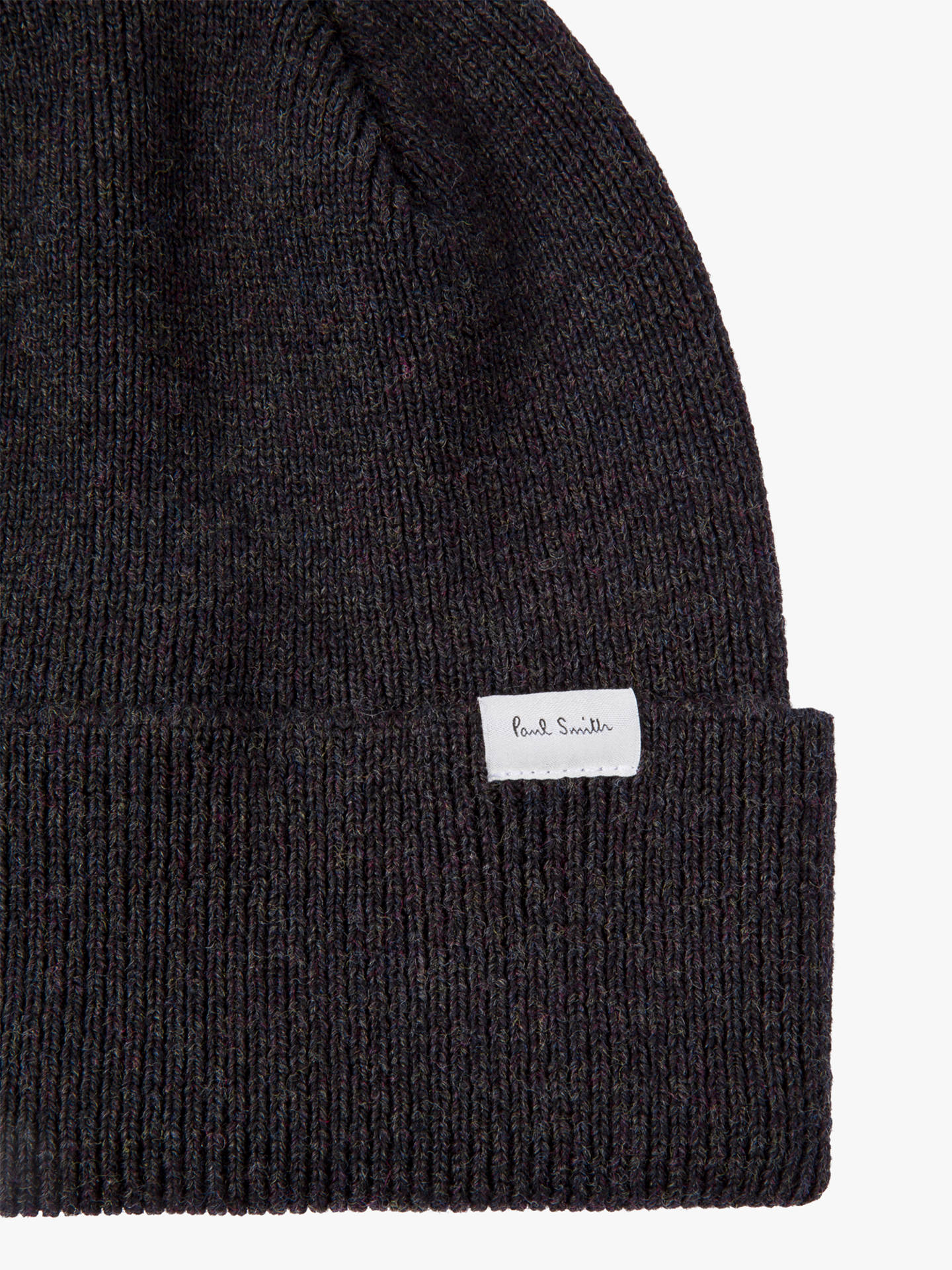 ... BuyPaul Smith Graphite Wool Beanie 861a1932bb0